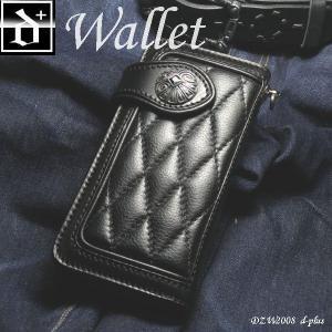 【エントリーでポイント10倍】財布 メンズ かっこいい レザーウォレット レザーロングウォレット/牛革/長財布/ブラック オープン記念 セール|d-plus-genius