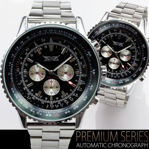 ビッグフェイス・自動巻き クロノグラフ 腕時計 全針稼動 オープン記念 セール|d-plus-genius