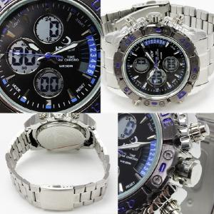 腕時計 メンズ  ビッグ フェイス アナログ デジタル 腕時計 ムーブメント オープン記念 セール メール便送料無料|d-plus-genius|02