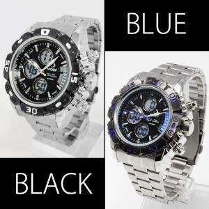 腕時計 メンズ  ビッグ フェイス アナログ デジタル 腕時計 ムーブメント オープン記念 セール メール便送料無料|d-plus-genius|03