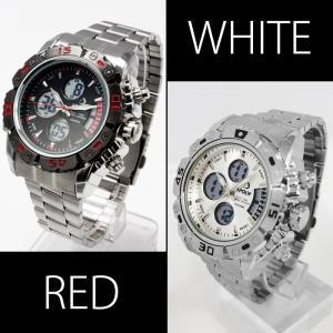 腕時計 メンズ  ビッグ フェイス アナログ デジタル 腕時計 ムーブメント オープン記念 セール メール便送料無料|d-plus-genius|04