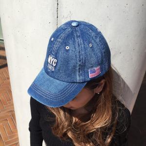 帽子 NYC 刺繍 ロゴ入り デニム キャップ メンズ レディース シンプル オープン記念 セール|d-plus-genius|06