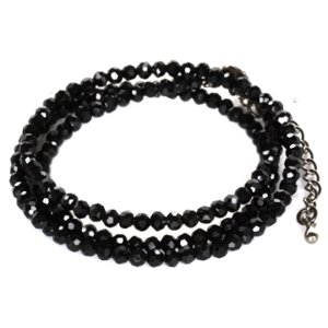 ブラッククリスタル ネックレス メンズ ブラックダイヤモンド ブラックスピネル オープン記念 セール メール便送料無料|d-plus-genius|04