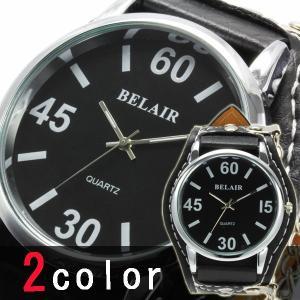 腕時計 メンズ ビッグフェイス ウォッチ 大きい オープン記念 セール メール便送料無料|d-plus-genius