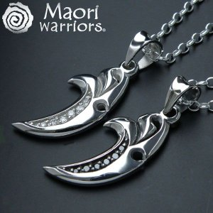 ペアネックレスにピッタリ  マオリ・ウォーリアーズ -MAORI warriors-moon sp-mo282 オープン記念 セール|d-plus-genius