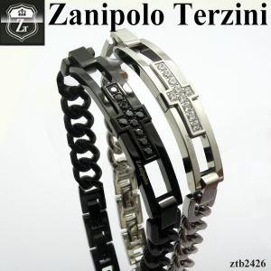 メンズ ブレスレット   - Zanipolo Terzini -  ザニポロ タルツィーニ クロスジルコニアチェーンブレスレット  ZTB2426 オープン記念 セール|d-plus-genius