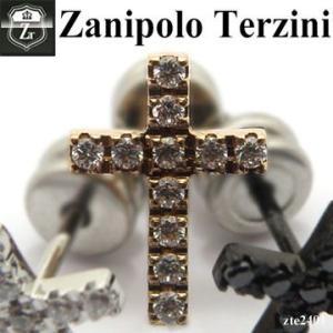 【メンズ ピアス】【-ZanipoloTerzini-】ザニポロタルツィーニ クロス ジルコニア ピアス|d-plus-genius