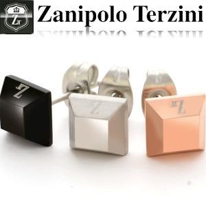ピアス メンズ スクエア スタッドピアス ステンレス/ピアス/ザニポロタルツィーニ/Zanipolo Terzini/ ZTE401 ザニポロ オープン記念 セール|d-plus-genius