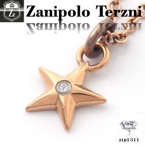 ステンレス/ネックレス/ザニポロタルツィーニ/星/ダイヤモンド/Zanipolo Terzini/ザニポロ ztp1311 オープン記念 セール|d-plus-genius