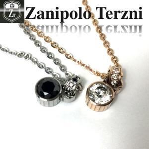 ステンレス/ネックレス/ザニポロタルツィーニ/キュービックジルコニア/Zanipolo Terzini/ザニポロ ztp3701 オープン記念 セール|d-plus-genius