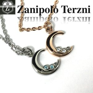 ステンレス/ネックレス/ザニポロタルツィーニ/三日月/Zanipolo Terzini/ザニポロ ztp3703 オープン記念 セール|d-plus-genius