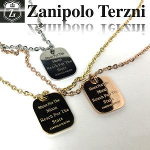 ステンレス/ネックレス/ザニポロタルツィーニ/プレート/Zanipolo Terzini/ザニポロ ztp3802 オープン記念 セール|d-plus-genius