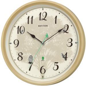 8MN409SR06 リズム時計 日本野鳥の会 四季の野鳥 報時掛時計409 電波掛時計の画像