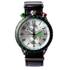 お取り寄せ AKS-4974-02 AMPELMANN アンペルマン クロノグラフ シルバー 腕時計|d-price