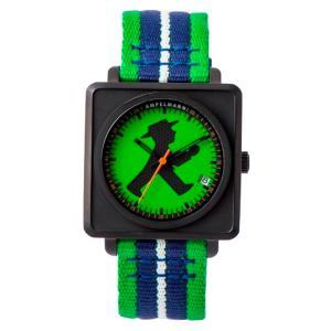 お取り寄せ APR-4971-12 AMPELMANN アンペルマン オートマ スクエア グリーン 腕時計|d-price