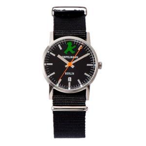 お取り寄せ ARI-4976-05 AMPELMANN アンペルマン クォーツ ラウンド ブラック 腕時計|d-price