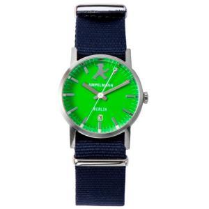 お取り寄せ ARI-4976-12 AMPELMANN アンペルマン クォーツ ラウンド グリーン 腕時計|d-price