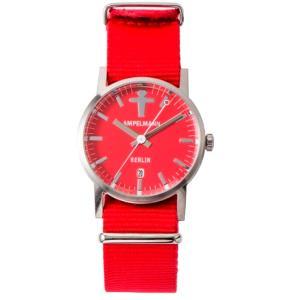 お取り寄せ ARI-4976-19 AMPELMANN アンペルマン クォーツ ラウンド レッド 腕時計|d-price