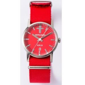 お取り寄せ ARI-4976-19 AMPELMANN アンペルマン クォーツ ラウンド レッド 腕時計|d-price|02