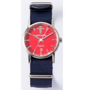お取り寄せ ARI-4976-19 AMPELMANN アンペルマン クォーツ ラウンド レッド 腕時計|d-price|03