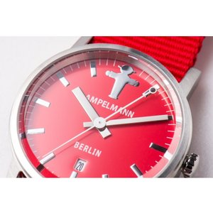 お取り寄せ ARI-4976-19 AMPELMANN アンペルマン クォーツ ラウンド レッド 腕時計|d-price|04