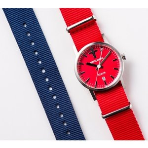 お取り寄せ ARI-4976-19 AMPELMANN アンペルマン クォーツ ラウンド レッド 腕時計|d-price|05