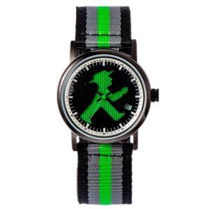 お取り寄せ ASC-4972-05 AMPELMANN アンペルマン クォーツ ラウンド ブラック 腕時計|d-price