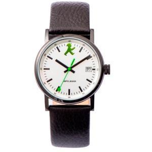 お取り寄せ ASC-4973-02 AMPELMANN アンペルマン クォーツ ラウンド レザーバンド シルバー 腕時計|d-price