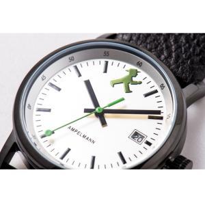 お取り寄せ ASC-4973-02 AMPELMANN アンペルマン クォーツ ラウンド レザーバンド シルバー 腕時計|d-price|04