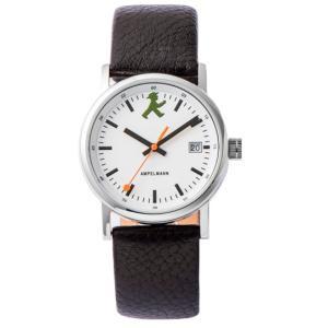 お取り寄せ ASC-4973-03 AMPELMANN アンペルマン クォーツ ラウンド レザーバンド ホワイト 腕時計|d-price