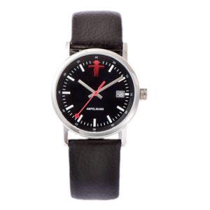 お取り寄せ ASC-4973-05 AMPELMANN アンペルマン クォーツ ラウンド レザーバンド ブラック 腕時計|d-price