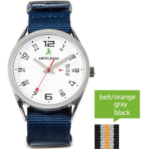 お取り寄せ ASC-4977-03 AMPELMANN アンペルマン クォーツ ラウンド 白 腕時計|d-price