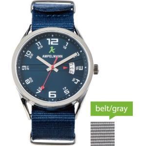 お取り寄せ ASC-4977-04 AMPELMANN アンペルマン クォーツ ラウンド 青 腕時計|d-price