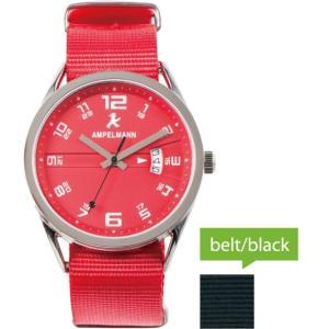 お取り寄せ ASC-4977-19 AMPELMANN アンペルマン クォーツ ラウンド 赤 腕時計|d-price