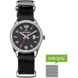 お取り寄せ ASC-4978-05 AMPELMANN アンペルマン クォーツ ラウンド 黒 腕時計|d-price