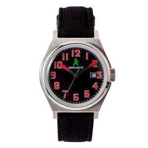 お取り寄せ ASC-4979-05 AMPELMANN アンペルマン クォーツ ラウンド 腕時計 ブラック|d-price