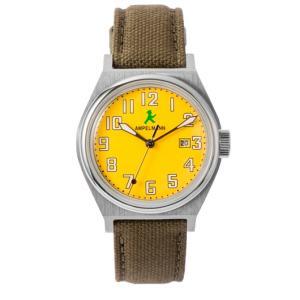 お取り寄せ ASC-4979-16 AMPELMANN アンペルマン クォーツ ラウンド 腕時計 イエロー|d-price