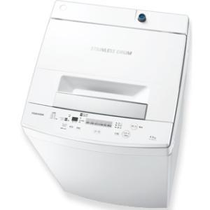時間指定不可 AW-45M7-W TOSHIBA 東芝 洗濯・脱水容量4.5kg 全自動洗濯機 ピュアホワイト d-price