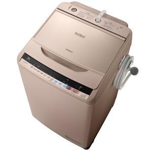 日時指定不可 BW-V100B-N HITACHI 日立 ビートウォッシュ 洗濯・脱水容量 10kg 全自動洗濯機 シャンパン|d-price