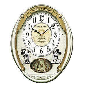 FW567W ディズニータイム ミッキー&フレンズ SEIKO セイコー キャラクター電波掛時計 クロック ミッキーマウス&ミニーマウス