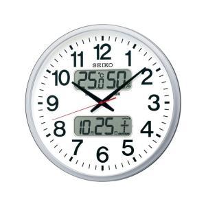 お取り寄せ KX237S SEIKO セイコー カレンダー、温度・湿度表示つき電波掛時計 電波掛時計|d-price|02
