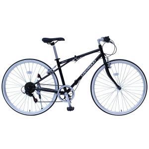 メーカー直送 代引不可 日時指定不可 MG-CV7006G ミムゴ CHEVROLET (シボレー) FD-CRB700C6SG 700C 折りたたみ自転車 クロスバイク ブラック|d-price