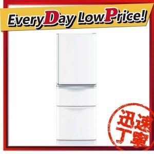 【設置サービス付き】 時間指定不可 MR-C34A-W MITSUBISHI 三菱電機 冷蔵庫 335L 3ドア Cシリーズ パールホワイト ★D d-price