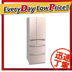【設置サービス付き】 時間指定不可 MR-WX47C-F MITSUBISHI 三菱電機 置けるスマート大容量 WXシリーズ 470L 6ドア冷蔵庫 クリスタルフロー ★E d-price