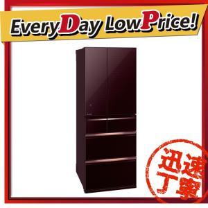 【設置サービス付き】 時間指定不可 MR-WX60C-BR MITSUBISHI 三菱電機 置けるスマート大容量 WXシリーズ 600L 6ドア冷蔵庫 クリスタルブラウ d-price