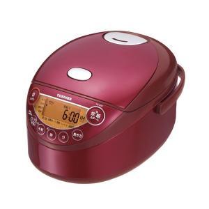 RC-6XK-R TOSHIBA 東芝 3.5合炊き 備長炭鍛造かまど釜 小容量IHジャー炊飯器 グランレッド