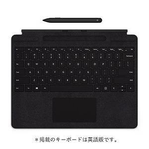Microsoft マイクロソフト スリムペン付き Surface Pro X Signature キーボード 日本語 QSW-00019 ブラック 287-ud の商品画像|ナビ