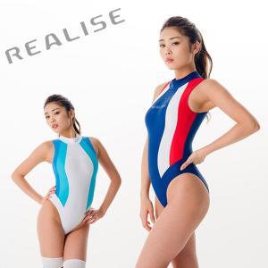 REALISE リアライズ (N-0371)競泳水着 コスチューム カラーパネルワンピーススイムスー...
