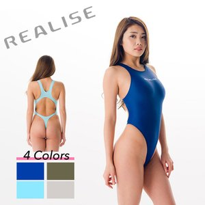 REALISE(リアライズ)【T-111】競泳水着 コスチューム ワンピーススイムスーツ | Circular hole swimsuit / Thong-back(Wカレンダー加工)