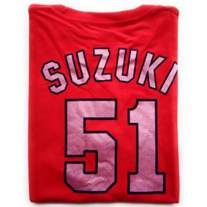 広島東洋カープ CARP 鈴木誠也(背番号51)オリジナルTシャツ(レディース) フリーサイズ PR|d-suizan-p